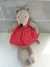 """Moulin Roty La Grande Famille Nini the Mouse Plush Soft Toy 12"""" French France"""