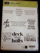 """CHRISTMAS MESSAGES"" Stampin'UP! NEW~CLEAR/CLING unmounted-Christmas Saying~RARE"