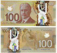 CANADA $100 Dollars UNC (2011) P-110c Wilkins Poloz Prefix GKH POLYMER Banknote