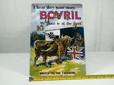 """A Wall Clock made from a Reproduction """" Bovril """" add from 1950's, Superb!"""