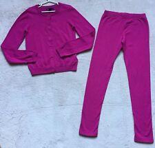 KidsGap Girls Sweater - New & Leggings EUC Matching Set, Size 10, Hot Pink