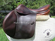 "18"" DEVOUCOUX SOCOA FRENCH close contact jumping saddle- 2008 Model-2A flaps"