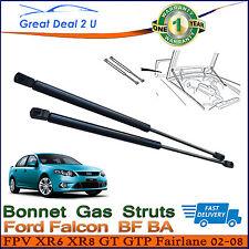 2PCS FORD FALCON BONNET GAS STRUTS BA BF 2002-2008 FPV XR6 XR8 GT FAIRMONT LIFT