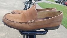 Johnston & Murphy Shoes Loafers Slip On Leather Suede mens 12 M tan