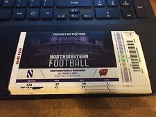 2014 Northwestern Wildcats Vs Wisconsin Badgers Ticket Stub 10/4 Football