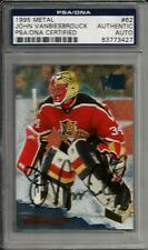 1995 Fleer Metal John Vanbiesbrouck Florida Panthers Signed Card PSA/DNA Slabbed