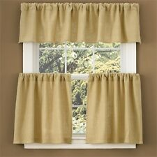 "Window Curtain Tier Pair 36"" by Park Designs - Burlap"