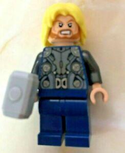 Lego Marvel Superheroes sh170 Thor - Soft Cape, Dark Blue Legs, dual sided head