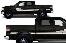 Custom Vinyl Decal Graphics Rally Stripe 3 Wrap for Ford F-150 09-14 MATTE WHITE