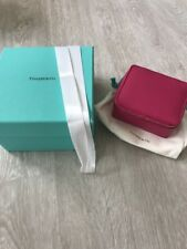 NIB Tiffany & Co. Fuscia Pink Zip Around Rectangle Jewelry Box