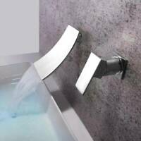Bathroom Chrome Wall Mounted Waterfall Bathtub Basin Sink Mixer Tap Bath Faucet