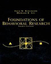 Foundations of Behavioral Research-ExLibrary