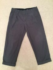 Navy Cropped Trousers Gap