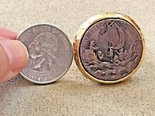Bellezza Bronze Securitas In Tempestate Ship Medallion Ring size 10