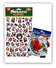 CHRISTMAS STICKERS AND ALBUM FANTASTIC FOR KIDS FOR CARDS AND CRAFTS
