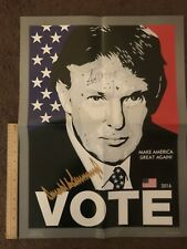 President Donald Trump Autograph Signed Poster Make America Great Again
