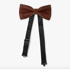 Genuine Leather Personalized Bow Tie | 12 Leather Colors | 3 Felt Colors