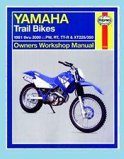 MAN2350 Haynes Manual Yamaha Trail Bikes PW50 PW80 RT100 RT180 TTR90 TTR125 XT22