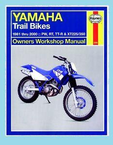 MAN2350 Manuel Haynes Yamaha Trail Vélos PW50 PW80 RT100 RT180 TTR90 TTR125 XT22