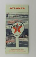 Vintage 1960 Texaco Atlanta Georgia Paper Road Map Randy McNeely