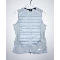 NIKE Aeroloft Gilet Vest Running Puffer Packable Zip Front Gray size Medium