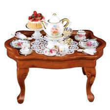Miniature Dollhouse 1:12 Scale Reutter Dresden Rose Tea Table Set - 1.785/3