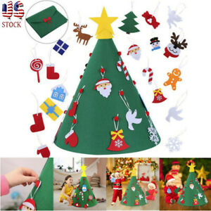 🎄Cyber Monday 3D DIY Felt Toddler Christmas Tree Kids Gifts Toy Xmas Home Decor