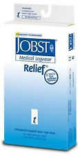 Jobst Relief 15-20 mmHg Thigh High Moderate Compression Stockings with Silicone