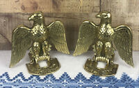 Vintage Brass Folding Eagle Bookends Set of Two