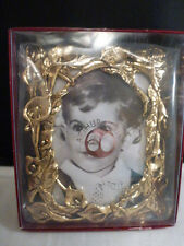 """ARTHUR COURT  CALLA LILY PHOTO FRAME  5""""x 6"""" for 3 """"x 5  """" PHOTO-EASTER gold tn"""