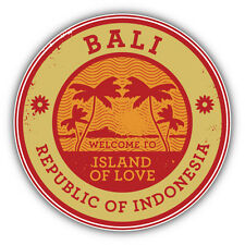 "Bali Island Indonesia Travel Stamp Car Bumper Sticker Decal 5"" x 5"""