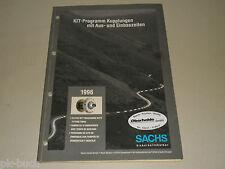 Kit Programm Ersatzteile Teile Katalog + Arbeitszeiten Sachs Kupplung, 1996