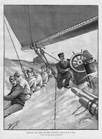 REGATTA, DRILLING THE CREW OF VIGILANT FLYING-JIB SHEET
