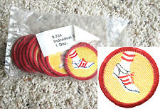 12 INDIVIDUAL SPORTS Girl Scout BADGES, NEW in 1 DOZ. PKG. Worlds to Explore
