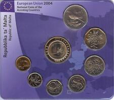 MALTA 1998 - 2004. BLISTER SET 8 MONEDAS + MEDALLA - BU UNC