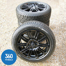 "NEW GENUINE LAND ROVER DISCOVERY 4 20"" BLACK 10 SPLIT SPOKE ALLOY WHEELS TYRES"