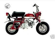 HONDA Poster Classic Z50A Z50 Mini Monkey Bike Suitable to Frame RED