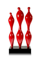 Amazing modern plastik / sculpture / statuette in shiny red. Height 62 cm