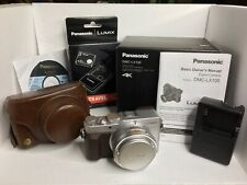 Panasonic LUMIX DMC-LX100 12.8MP Digital Camera - Silver & Brown