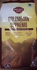 Wellsley Farms - Whole Bean Coffee - Colombian Supremo - 40oz Bag - New & Fresh!