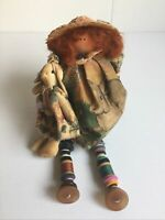 "10 "" Brieanna Rose Shelf Sitter Doll With Button & Bobbin Legs & Arms"