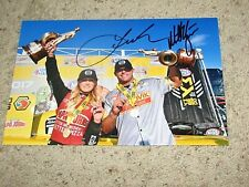 LEAH PRITCHETT & MATT HAGAN NHRA DRIIVERS SIGNED 8X12 PHOTO coa