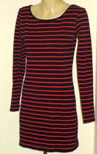 Summer Long Sleeve Dresses Stripes