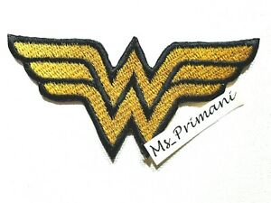 DC Comics Wonder Woman WW Chest Iron/ Sew-on Embroidered Patch/ Badge/ Logo