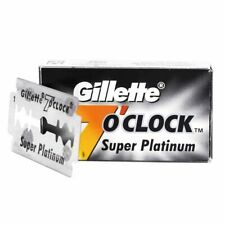 Gillette 7 o'clock Super Platinum Double Edge Blades | 10/20/30/40 Blades