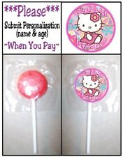 24 Hello Kitty Birthday Party Baby Shower Lollipop Stickers Multi use Play Doh