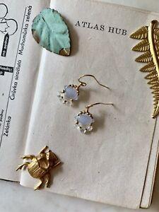 Topaz Chalcedony 14K Gold Filled Handmade Sundance Garden Earrings