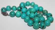 Turquoise Necklace Jewelry Asian Lot Vtg Chinese