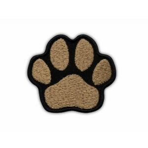 Paw brown Embroidered PATCH/BADGE