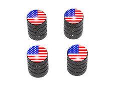 New listing Usa Flag - American Tire Rim Valve Stem Caps - Black